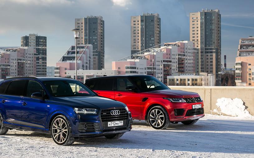 Дальние родственники. Audi Q7 против Range Rover Sport