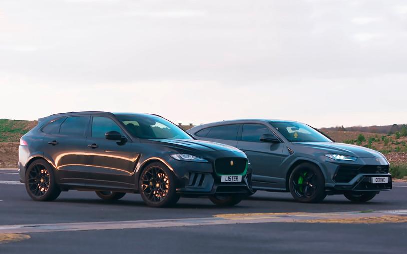 Lamborghini Urus сразился в дрэге с Lister Stealth. Видео