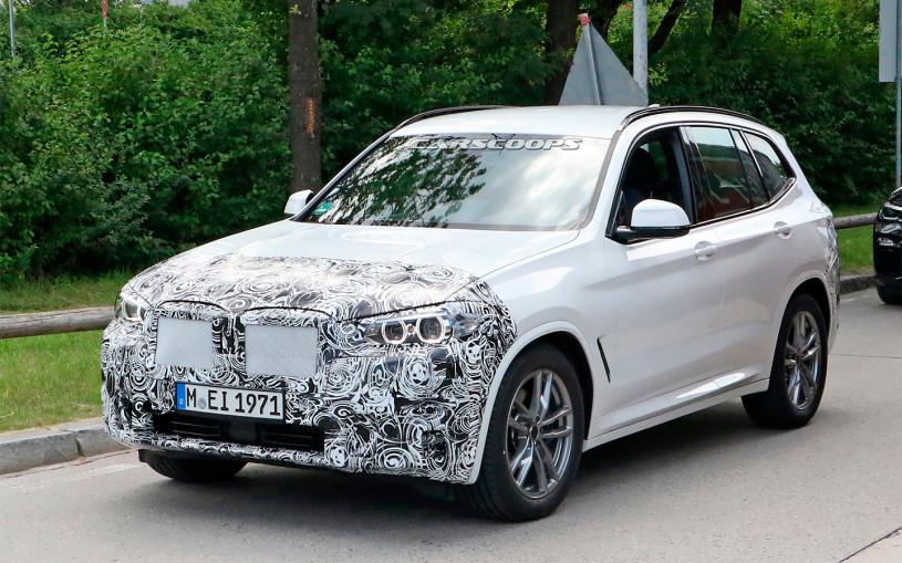 Впервые сфотографирован обновленный BMW X3