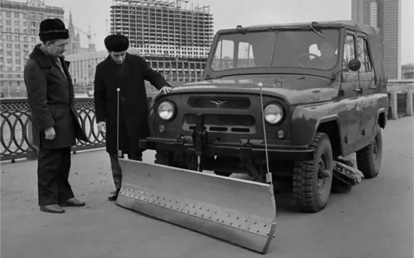 В Сети показали очень редкий внедорожник УАЗ для уборки снега. Фото