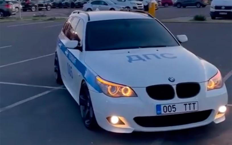 В Эстонии девушка раскрасила BMW в цвета российской ДПС. Ей грозит арест