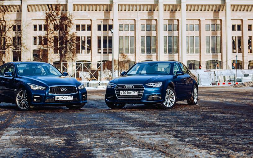 Без лишних букв. Audi A4 против Infiniti Q50
