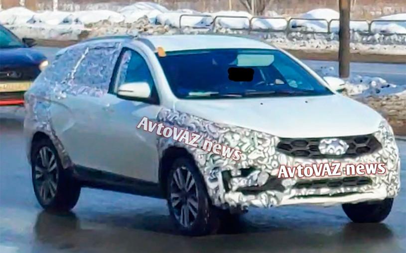 Обновленный универсал Lada Vesta заметили на тестах