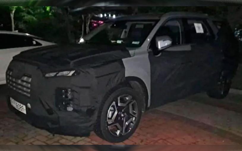 Hyundai приступил к испытаниям обновленного кроссовера Palisade