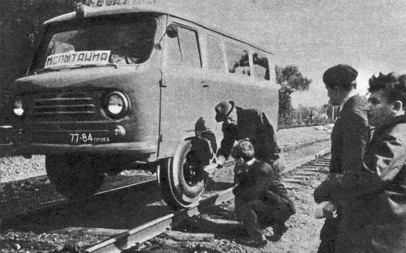 УАЗ показал «Буханку-дрезину» времен СССР