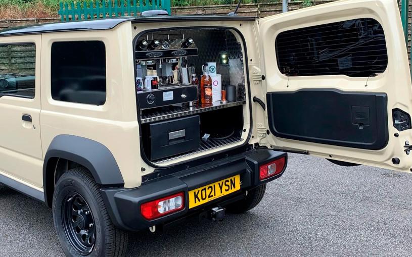 Suzuki Jimny превратили в мобильную кофемашину. Фото