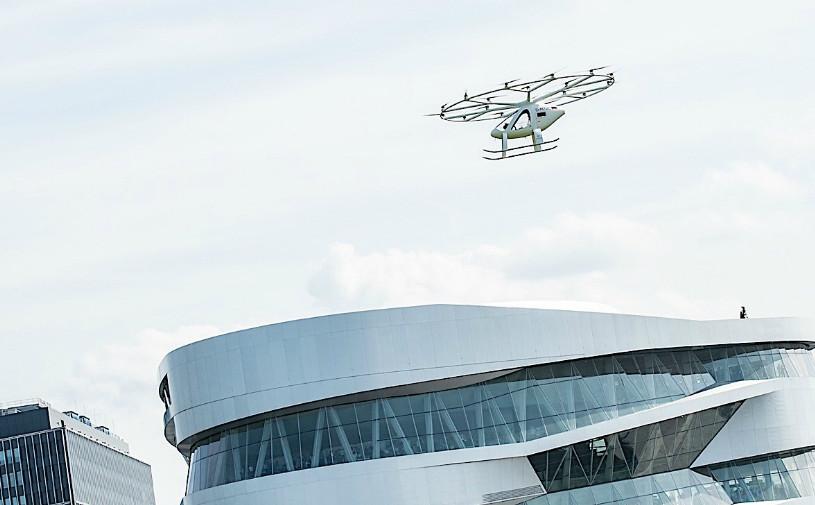 Видео: немецкое аэротакси с автопилотом совершило первый полет в Европе