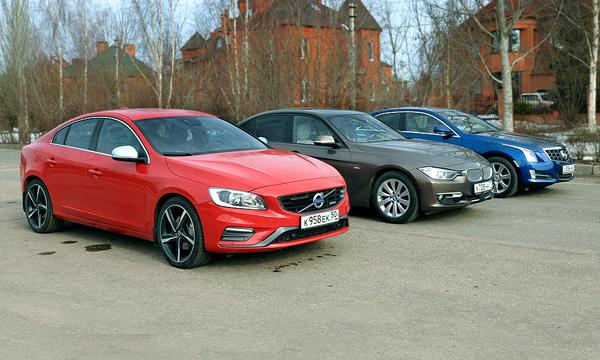Зла хватает: сравнение BMW 3, Cadillac ATS и Volvo S60