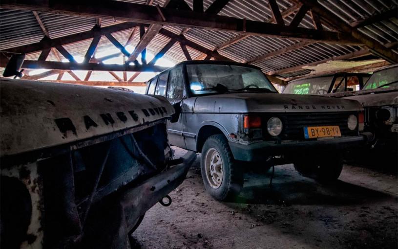 В Нидерландах обнаружили кладбище внедорожников Range Rover. Фото