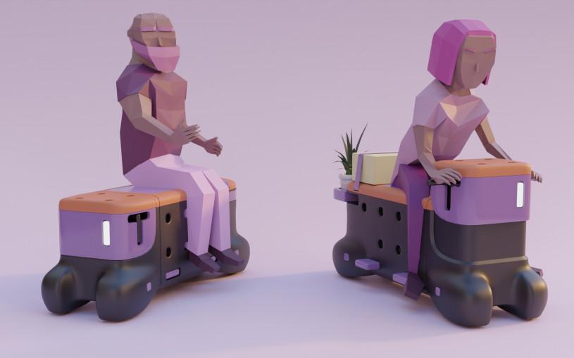 Ford сделает скамейку, на которой можно будет ездить по улицам. Фото