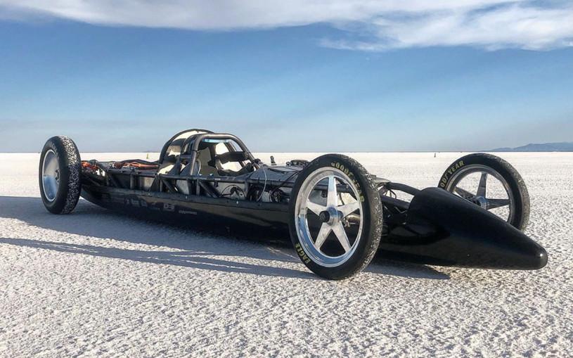 Болид с моторами Tesla дважды установил рекорд скорости