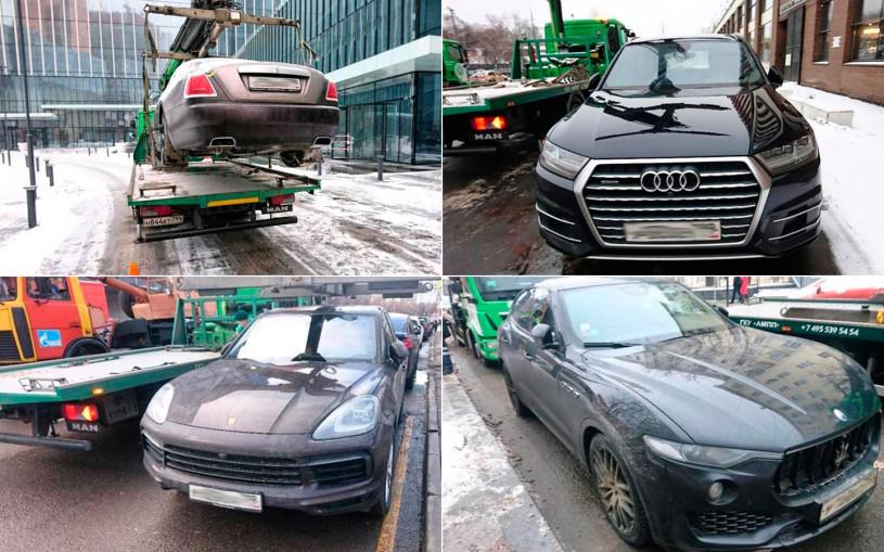 С начала года в Москве эвакуировали более 1 тыс. премиальных машин