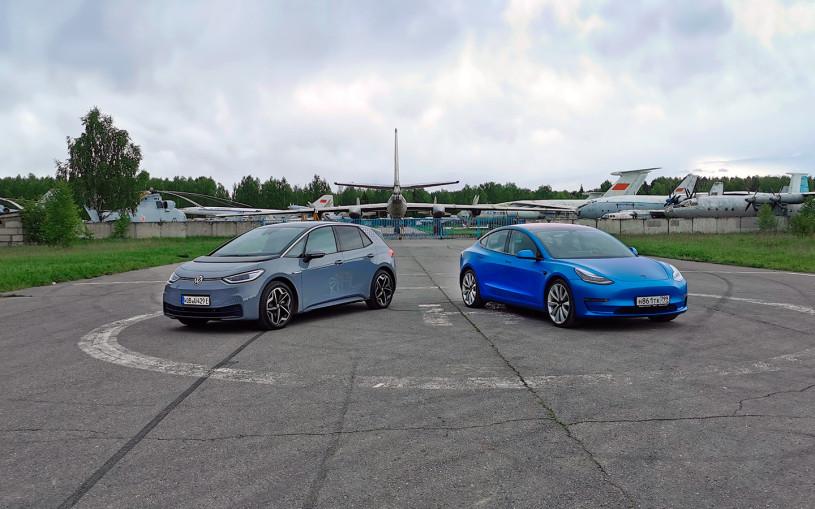 Покорители Европы. Volkswagen ID.3 против Tesla Model 3