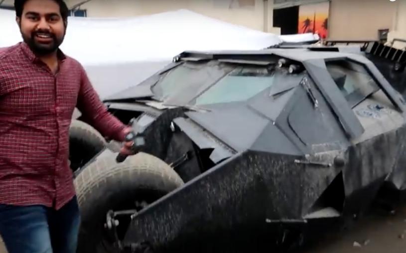 В Дубае нашли заброшенный «Бэтмобиль». Видео