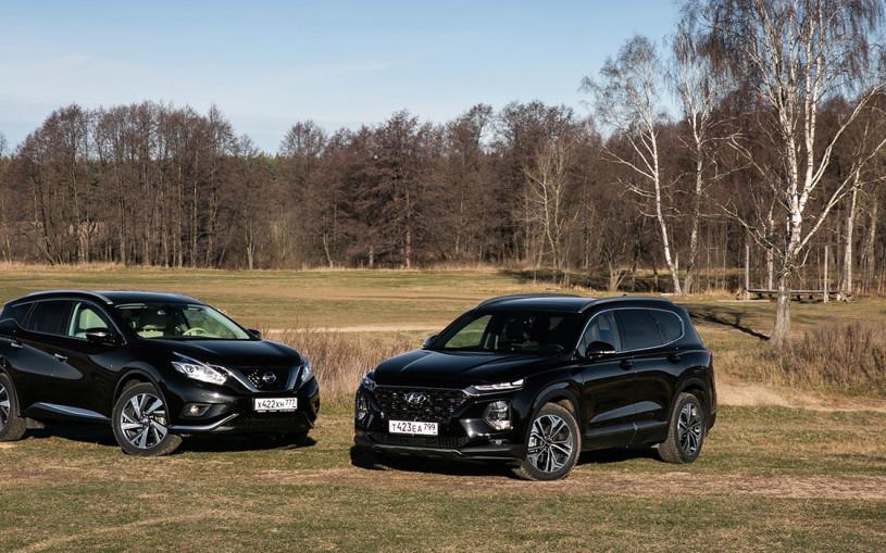 Представительские расходы. Hyundai Santa Fe против Nissan Murano