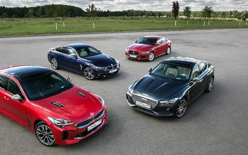 Шокирующая Азия. Kia Stinger и Genesis G70 против BMW 4 и Jaguar XE