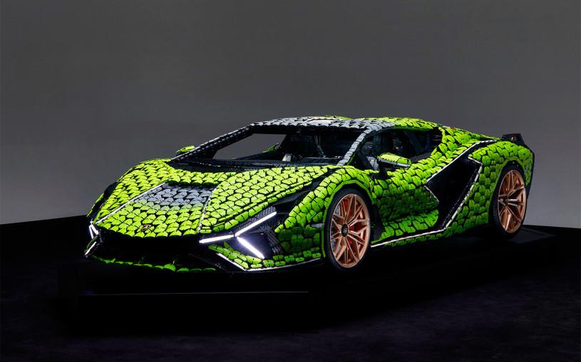 Lego показала на видео полноразмерную копию самого мощного Lamborghini