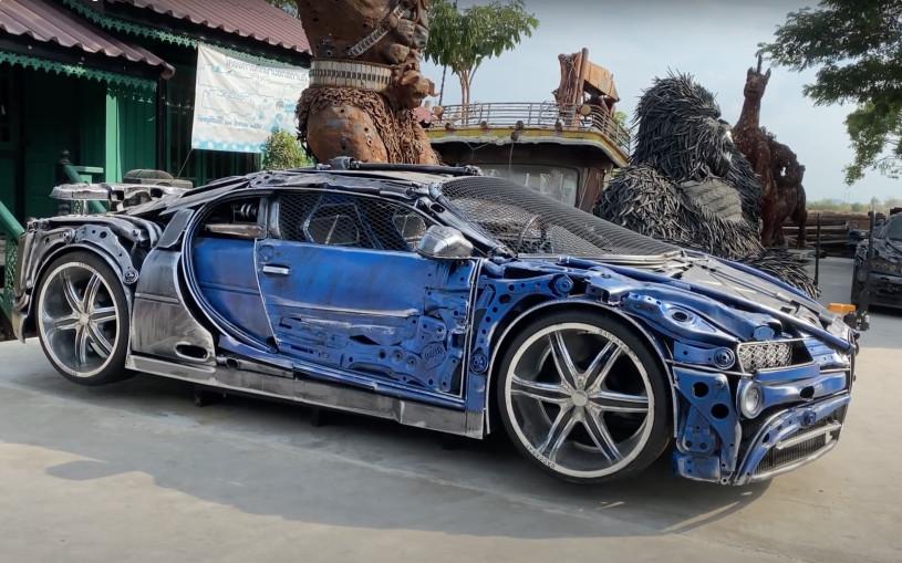 В Таиланде собрали Bugatti Chiron из кусков металла