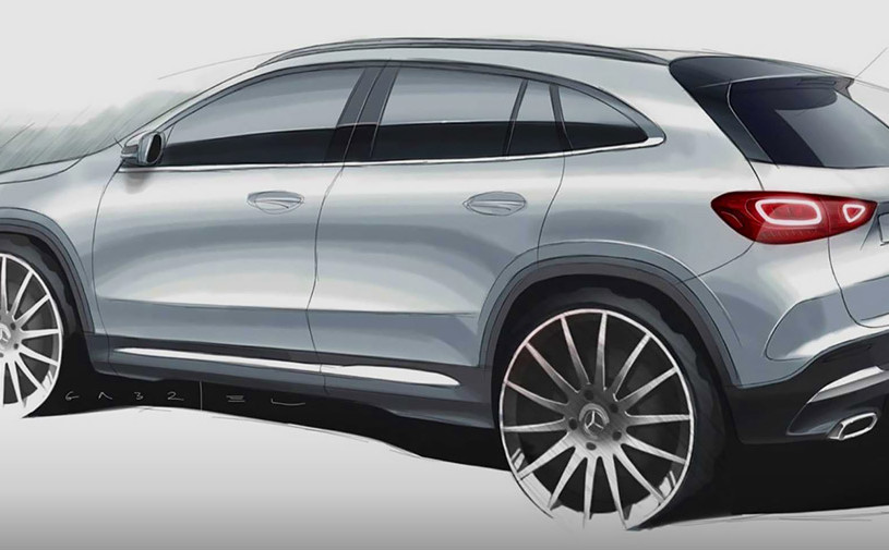 Mercedes показал дизайн нового GLA