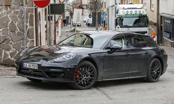 Новый универсал Porsche Panamera впервые замечен на тестах