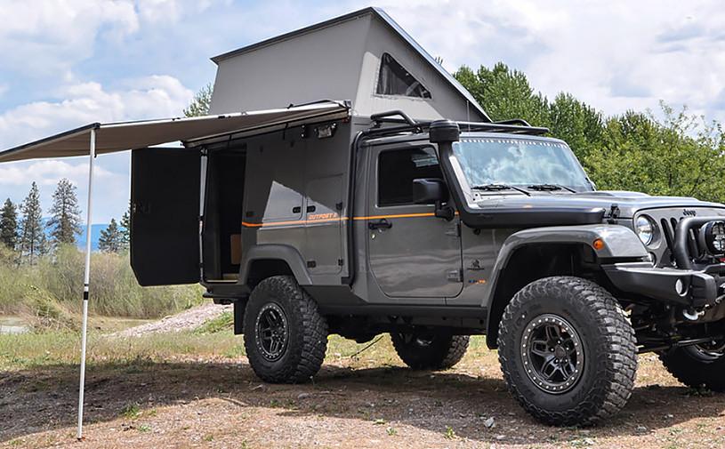 Jeep Wrangler превратили в дом на колесах повышенной проходимости