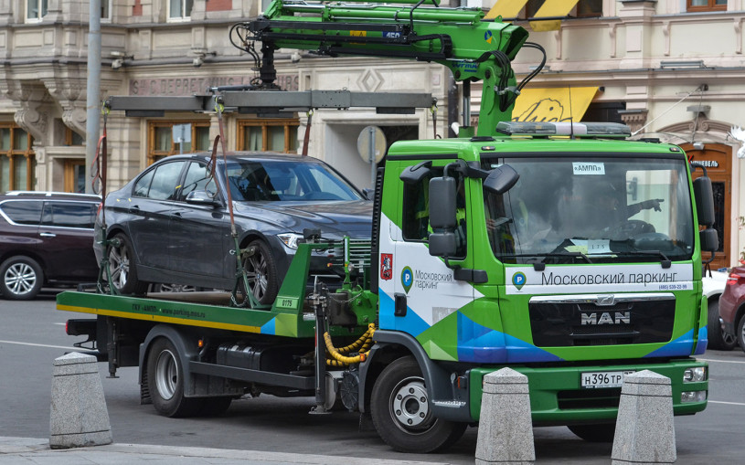 В  Москве посчитали количество эвакуированных за незаконную стоянку машин