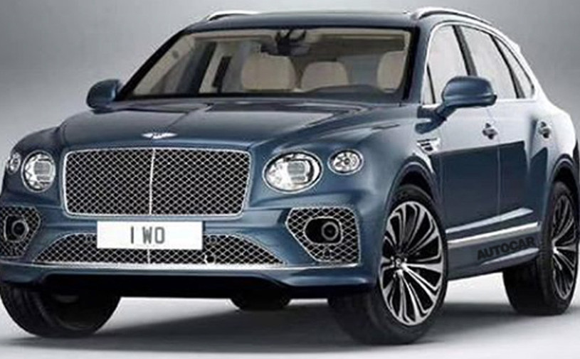 Дизайн обновленного Bentley Bentayga рассекретили до премьеры