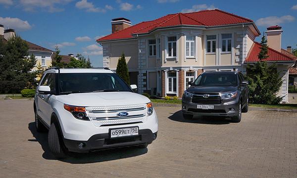 С разных берегов: Ford Explorer против Toyota Highlander