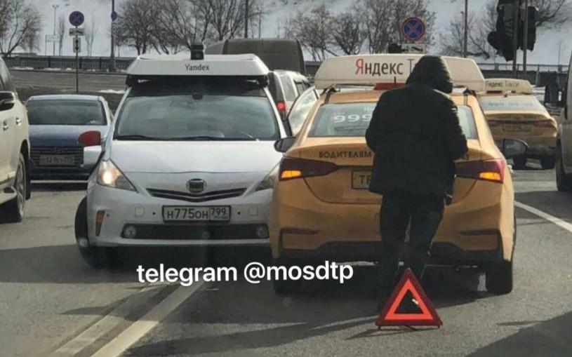 В Москве произошло ДТП с беспилотником. Фото
