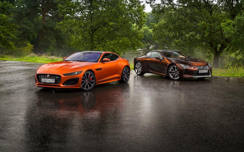 Берегитесь папарацци! Lexus LC500 против Jaguar F-Type