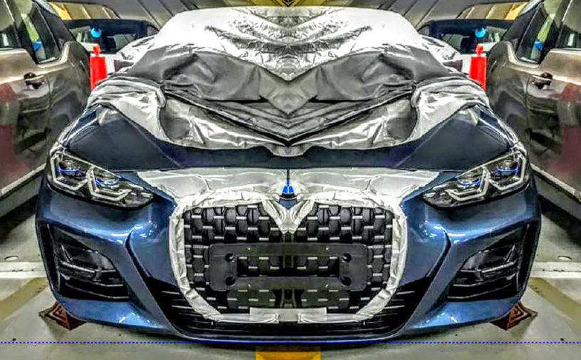 Новую BMW 4-Series сфотографировали с огромными «ноздрями»