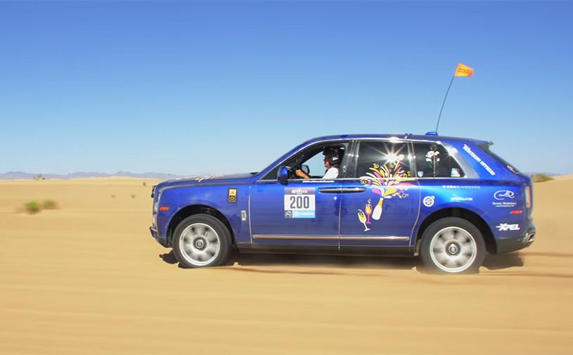 Видео: кроссовер Rolls-Royce принял участие в женском ралли по пустыне