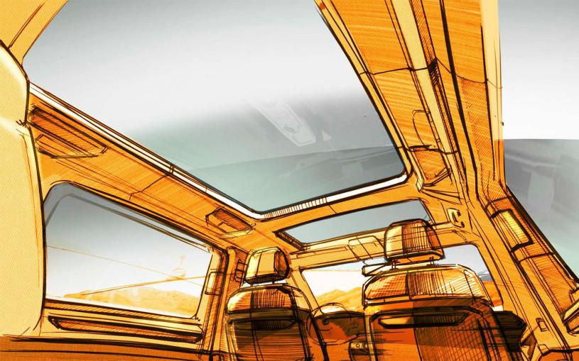 Volkswagen рассказал о трансформируемом салоне нового Multivan