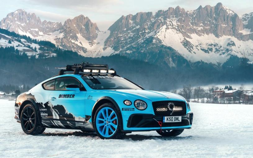 Bentley Continental превратили во внедорожник для «ледяной гонки»