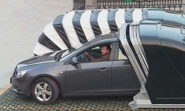 В Китае разработали новый тип гаражей для парковки во дворе