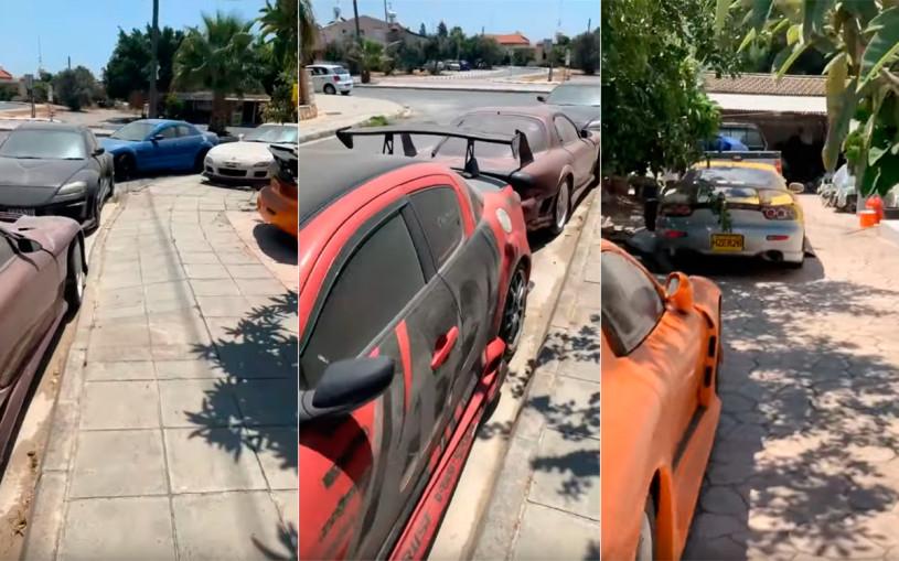 На Кипре около частного дома нашли кладбище старых Mazda. Видео