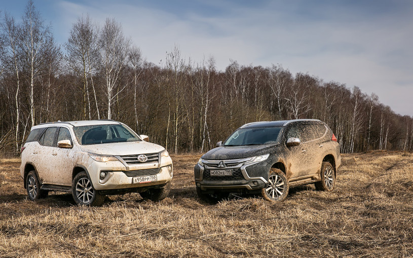 Кто заедет дальше: Toyota Fortuner против Mitsubishi Pajero Sport