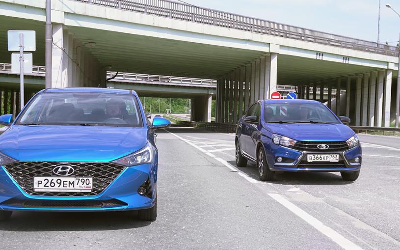 Новая реальность. Hyundai Solaris против Lada Vesta