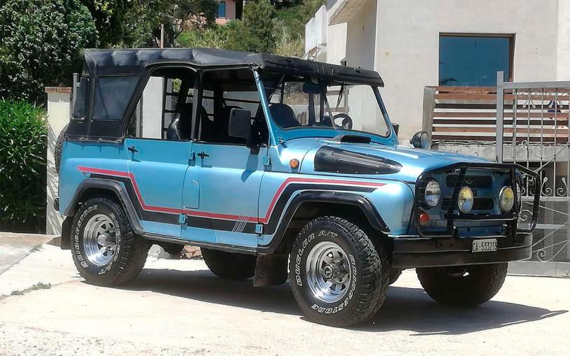 В Италии нашли тюнингованный УАЗ-469 с дизельным мотором. Фото