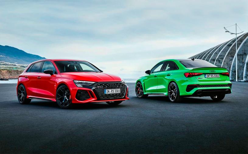 Audi представила новые хэтчбек и седан RS3 с 400-сильным мотором