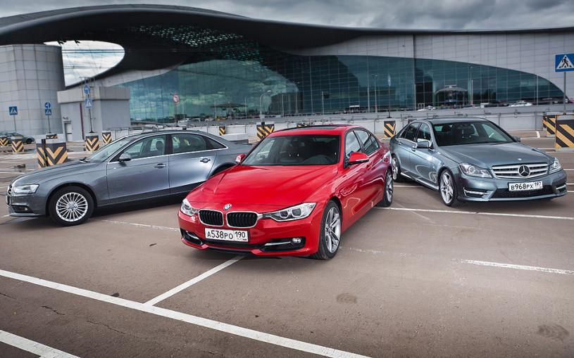 Война Алой и Серых роз. BMW 3 против Mercedes C-Class и Audi A4