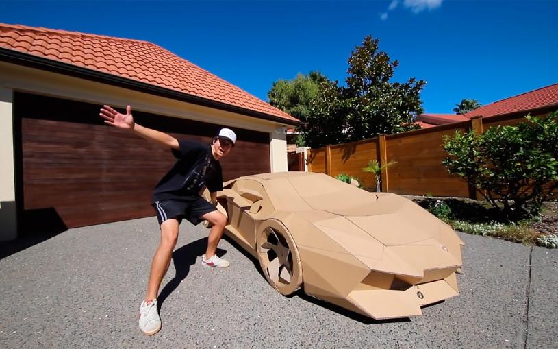 В США построили Lamborghini из картона и продали за $10 тыс. Видео