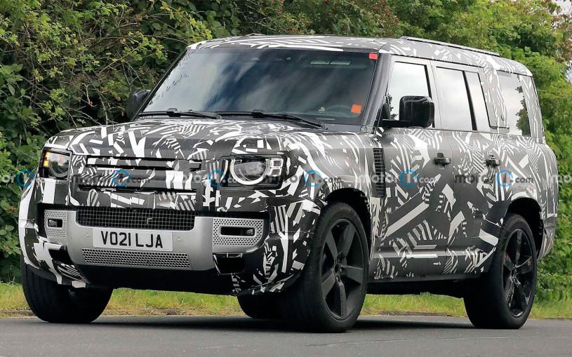 Land Rover Defender с тремя рядами сидений впервые замечен на тестах