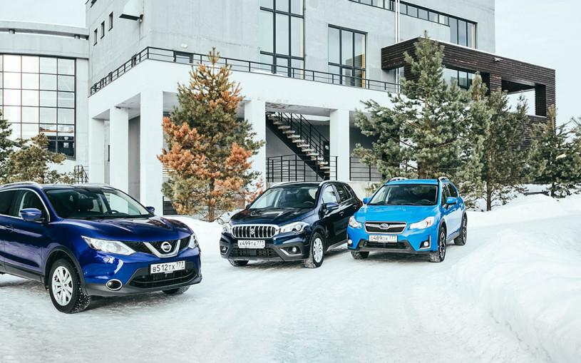 Городские легенды. Nissan Qashqai против Suzuki SX4 и Subaru XV