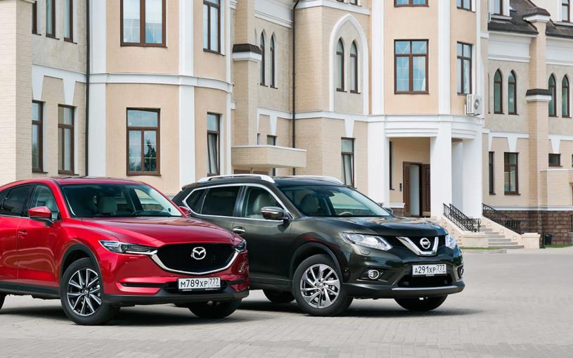 Безопасное сближение. Mazda CX-5 против Nissan X-Trail