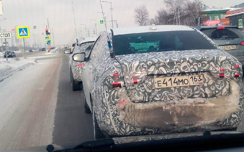 Обновленную Lada Vesta засняли на видео