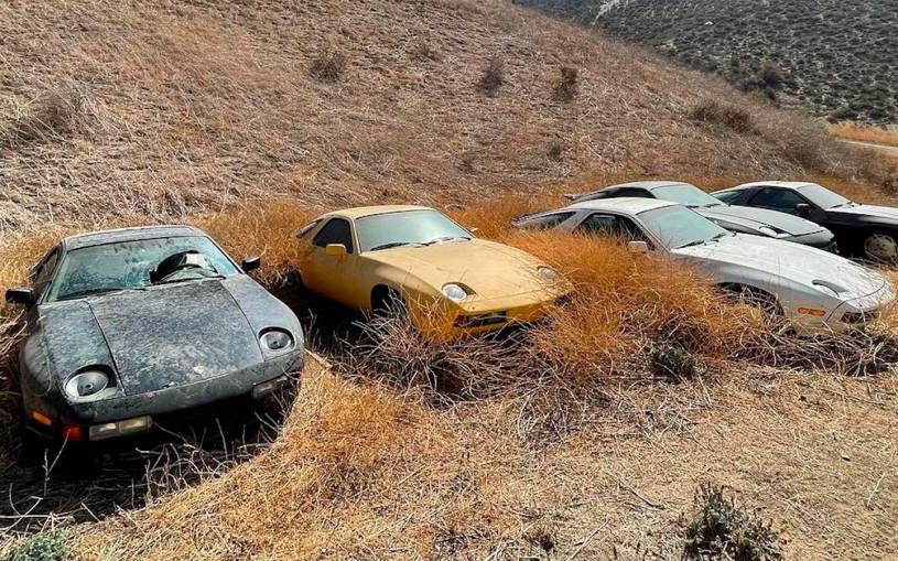 В Калифорнии нашли кладбище автомобилей Porsche. Фото