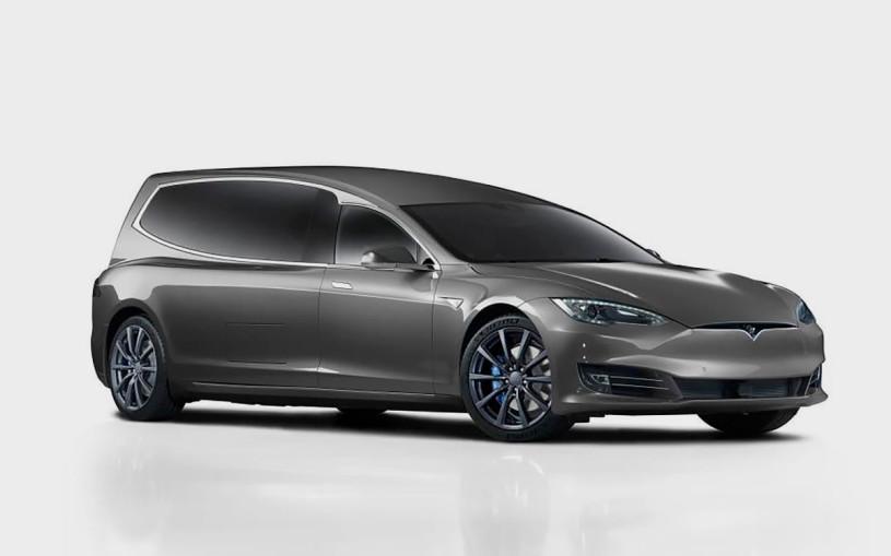 Электрокар Tesla Model S превратили в роскошный катафалк