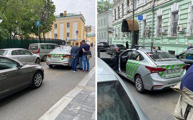 Беспилотный автомобиль попал в аварию в центре Москвы