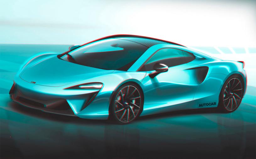 Мощность нового гибридного суперкара McLaren превысит 600 лошадиных сил